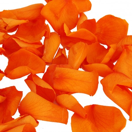 Orange Rose Petals - 1 Litre