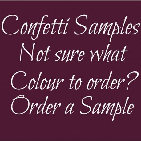 Confetti Rose Petal Sample